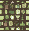 geometric tree wood forest eco graphic vector image