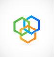 geometrical abstract hexagon icon logo vector image vector image