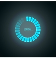 Glowing blue preloader vector image