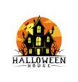 halloween house logo vector image
