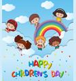 happy children day template vector image