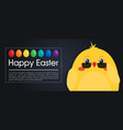 happy easter modern card in flat style vector image vector image