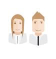 icons business avatars set vector image