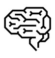 machine brain icon outline style vector image