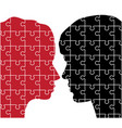 man and woman puzzles vector image vector image