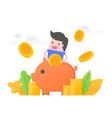 money saving vector image vector image