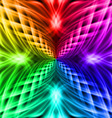 Multicolored pattern on the black background vector image vector image