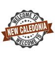 new caledonia round ribbon seal vector image vector image