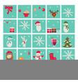 new year advent calendar santa claus vector image