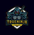 ninja assassin mascot badge