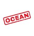 Ocean Rubber Stamp vector image vector image