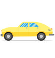 old yellow hatchback vector image vector image
