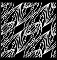 pattern of white lines and circles on a black vector image