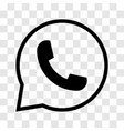 phone in speech bubble icon - iconic design vector image