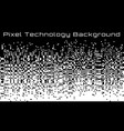pixel abstract technology gradient background vector image vector image