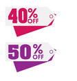 price tag 40 50 off image vector image