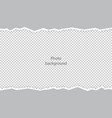 ripped curves uneven edges texture of the photo vector image vector image