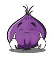 sad red onion character cartoon vector image vector image