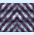 seamless blue corner knitting pattern vector image vector image