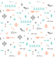 seamless handdrawn pattern in boho style vector image vector image