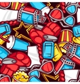 seamless pattern 3d movie elements and cinema vector image