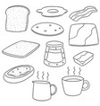 set of breakfast vector image vector image