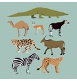 Set Of Different African Animals Animals vector image vector image