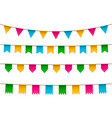set of realistic colorful flag bunting vector image
