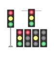 set traffic lights isolated on white background vector image