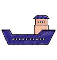 ship boat cargo icon vector image