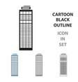 skyscraper icon cartoon single building icon from vector image vector image