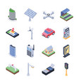 smart city isometric icons vector image
