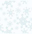 snowflakes seamless pattern winter cartoon vector image vector image