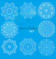 snowflakes set of round ornaments for creativity vector image