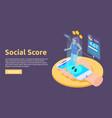 social rank horizontal banner vector image vector image