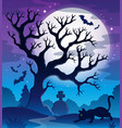 spooky tree theme image 2 vector image