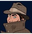 Spy pop art hand drawn vector image