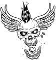 tattoo skull vector image vector image