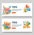 toy shop for babies banners vector image vector image