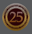 twenty fifth anniversary celebration logo symbol vector image vector image