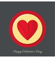 Two halves of red heart vector image vector image