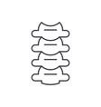 vertebrae line icon concept vertebrae vector image vector image