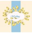 Wedding card invitation vector image vector image