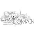 which domain name do i choose text word cloud vector image vector image