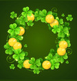 wreath of clover leaves vector image