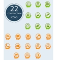 Constructing icons vector image