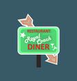 royal coach restaurant dinner retro street vector image