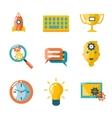 Flat business SEO social media marketing vector image