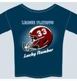 Blue Football League Play Offs Tee Shirt vector image
