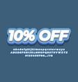 10 off sale discount promotion text 3d modern blue